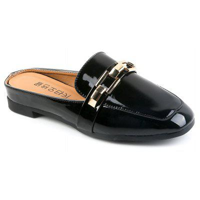 All-Match Half Metal Buckle Leisure Slippers