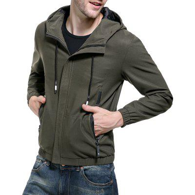 2018 Autumn and Winter Models Men Washed Solid Color Jacket Hooded Men JacketMens Jackets &amp; Coats<br>2018 Autumn and Winter Models Men Washed Solid Color Jacket Hooded Men Jacket<br><br>Clothes Type: Jackets<br>Collar: Hooded<br>Material: Polyester<br>Package Contents: 1 x jacket<br>Season: Fall<br>Shirt Length: Regular<br>Sleeve Length: Long Sleeves<br>Style: Casual<br>Weight: 0.5000kg