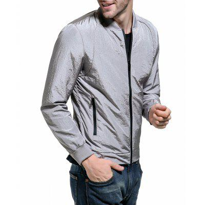 2018 Spring Solid Color Collar Jacket Men Large Size JacketMens Jackets &amp; Coats<br>2018 Spring Solid Color Collar Jacket Men Large Size Jacket<br><br>Clothes Type: Jackets<br>Collar: Stand Collar<br>Material: Nylon<br>Package Contents: 1 x jacket<br>Season: Summer<br>Shirt Length: Regular<br>Sleeve Length: Long Sleeves<br>Style: Casual<br>Weight: 0.5000kg