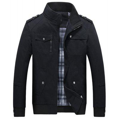 Spring Autumn MenS Pure Cotton Casual Collar Coat Business JacketMens Jackets &amp; Coats<br>Spring Autumn MenS Pure Cotton Casual Collar Coat Business Jacket<br><br>Clothes Type: Jackets<br>Collar: Turtleneck<br>Fabric Type: Canvas<br>Material: Cotton, Polyester, Microfiber<br>Package Contents: 1x Jacket<br>Season: Spring, Fall, Winter<br>Shirt Length: Regular<br>Sleeve Length: Long Sleeves<br>Style: Casual<br>Weight: 0.8000kg