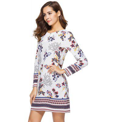 New Casual Round Neck Long Sleeve Floral Printed DressWomens Dresses<br>New Casual Round Neck Long Sleeve Floral Printed Dress<br><br>Dresses Length: Knee-Length<br>Elasticity: Nonelastic<br>Embellishment: Spliced<br>Fabric Type: Worsted<br>Material: Polyester<br>Neckline: Round Collar<br>Package Contents: 1xDress<br>Pattern Type: Print<br>Season: Spring, Fall, Summer<br>Silhouette: A-Line<br>Sleeve Length: Long Sleeves<br>Style: Fashion<br>Waist: Natural<br>Weight: 0.1500kg<br>With Belt: No