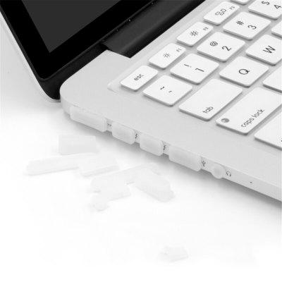 12 PCS / SET Silicone Macio Anti Poeira Plug para Macbook Air / Pro Retina