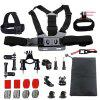 Accessories Set Support for GoPro Hero 6/5/4/3/2 Kit Mount for GoPro SJ5000 Eken/SOOCOO/Xiaomi Yi 4k Camera - BLACK