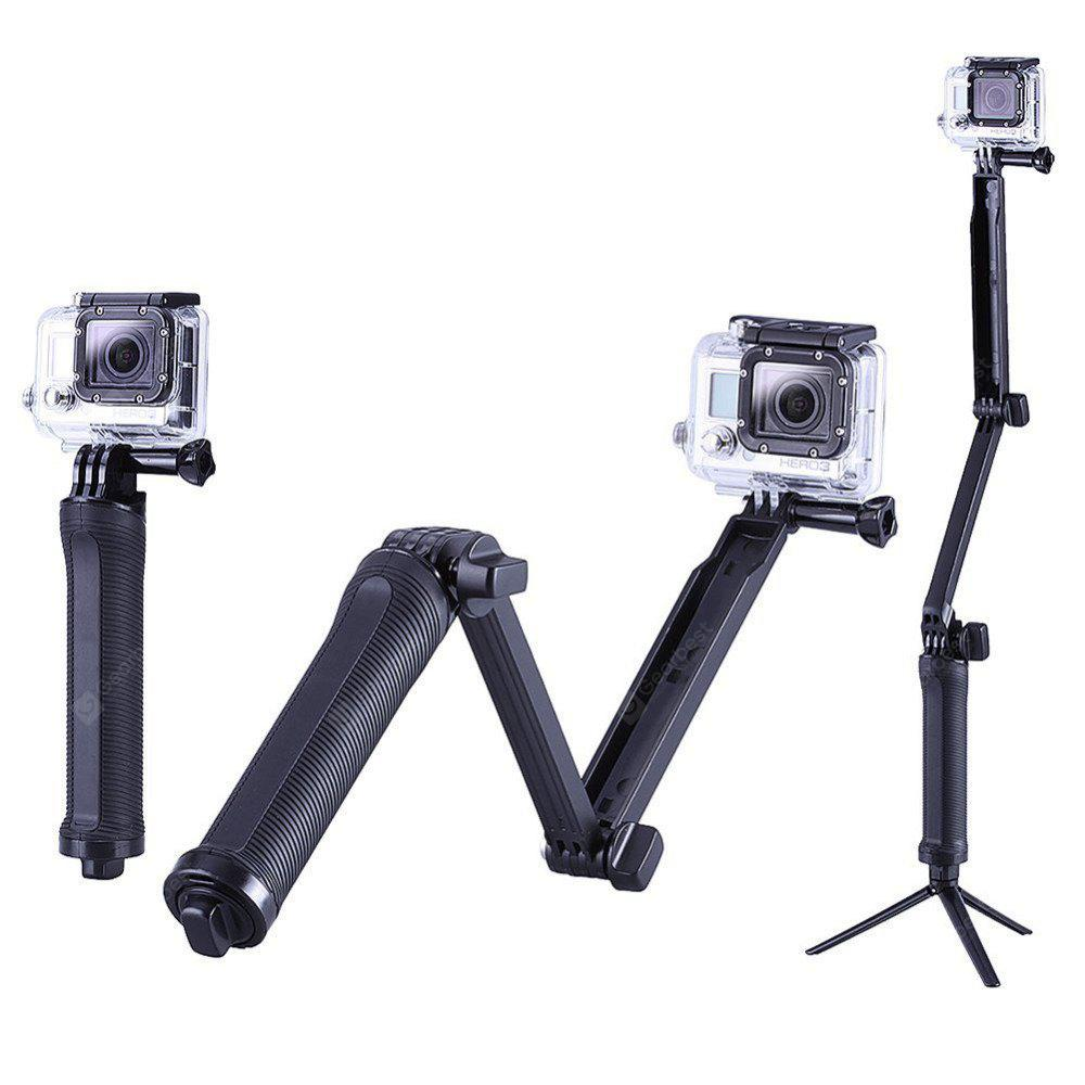 Collapsible Three Way Monopod Selfie Stick Mount Camera