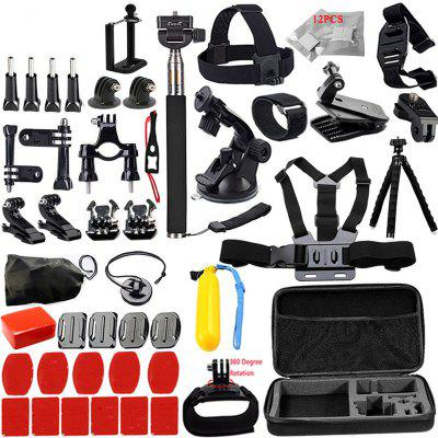 Accessories Set Support GoPro Case Chest Belt Head Mount Strap for GoPro Hero 6/5/4/3/2/1/EKEN/SJ5000X Kit