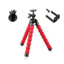 Mini Portable Flexible Sponge Octopus Tripod Stand Mount With Holder For Phone Camera Smart Phone Monopod Selfie Stick