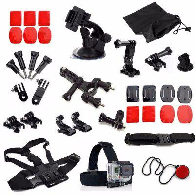 For Gopro Session Accessories Hero 6/5/4 Session With Bicycle Mount Helmet Strap Car Mount