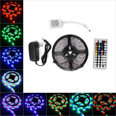 KWB 5M Waterproof LED Flexible Strip 2835 RGB 300LEDS with 44KEY Ir Remote Controller And 12V 3A Power Supply