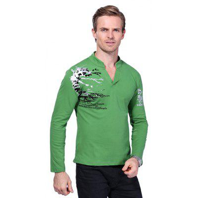 MenS V Neck Print Long Sleeve T ShirtMens T-shirts<br>MenS V Neck Print Long Sleeve T Shirt<br><br>Collar: V-Neck<br>Material: Cotton, Spandex<br>Package Contents: 1 x T Shirt<br>Pattern Type: Print<br>Sleeve Length: Full<br>Style: Casual<br>Weight: 0.2900kg