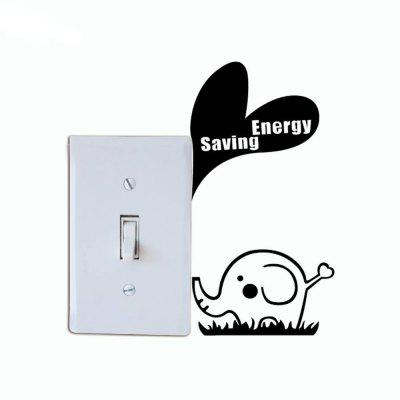 DSU Energy-saving Baby Elephant Light Switch Sticker Creative Animal Vinyl Wall StickerWall Stickers<br>DSU Energy-saving Baby Elephant Light Switch Sticker Creative Animal Vinyl Wall Sticker<br><br>Art Style: Plane Wall Stickers, Toilet Stickers<br>Artists: Others<br>Brand: DSU<br>Color Scheme: Black<br>Effect Size (L x W): 13 x 9 cm<br>Function: Light Switch Stickers, Decorative Wall Sticker<br>Layout Size (L x W): 13 x 9 cm<br>Material: Vinyl(PVC)<br>Package Contents: 1 x Wall Sticker<br>Package size (L x W x H): 17.00 x 12.00 x 1.00 cm / 6.69 x 4.72 x 0.39 inches<br>Package weight: 0.0300 kg<br>Product size (L x W x H): 13.00 x 9.00 x 0.01 cm / 5.12 x 3.54 x 0 inches<br>Product weight: 0.0200 kg<br>Quantity: 1<br>Subjects: Fashion,Letter,Cute,Cartoon,Famous,Game<br>Suitable Space: Living Room,Bedroom,Hotel,Kids Room,Entry,Kitchen,Pathway,Door,Corridor,Hallway,Boys Room,Game Room<br>Type: Plane Wall Sticker
