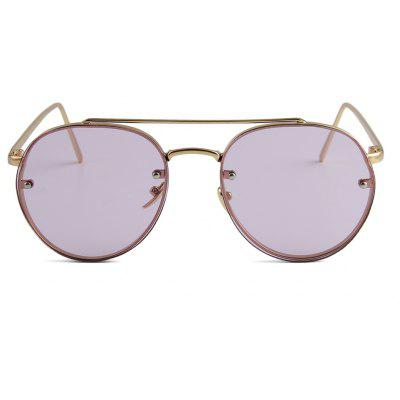 Fashion Women Sunglasses Metal Nose Pad PC Glasses Ocean Glasses Upscale Candy Color Flat Sunglasses3463