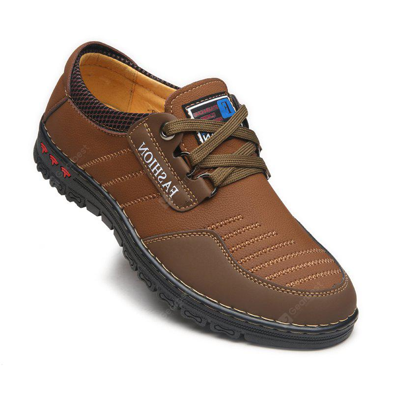 Men Casual Trend for Fashion Outdoor Hiking Sport Flat Leather Shoes