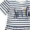 2018 Summer New Girl Dress English Alphabet Stripes Short-Sleeved Kids Princess Dress - WHITE