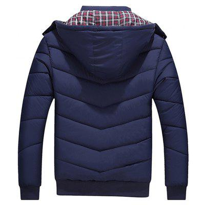 Autumn Winter Men Plus Size Cotton-Padded Down JacketMens Jackets &amp; Coats<br>Autumn Winter Men Plus Size Cotton-Padded Down Jacket<br><br>Closure Type: Zipper<br>Clothes Type: Padded<br>Collar: Turtleneck<br>Color Style: Solid<br>Colors: Black,Red,Blue<br>Detachable Part: Hat Detachable<br>Fabric Type: Polyester<br>Hooded: Yes<br>Lining Material: Cotton,Polyester<br>Materials: Cotton, Polyester, Down<br>Package Content: 1x Coat<br>Package size (L x W x H): 1.00 x 1.00 x 1.00 cm / 0.39 x 0.39 x 0.39 inches<br>Package weight: 0.6500 kg<br>Pattern Type: Solid<br>Product weight: 0.6000 kg<br>Shirt Length: Regular<br>Size1: M,L,XL,4XL,2XL,3XL,5XL<br>Sleeve Style: Regular<br>Style: Casual<br>Technics: Handmade<br>Thickness: Thickening<br>Type: Slim