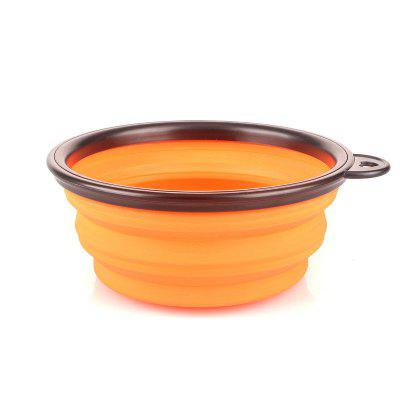 Collapsible Dog Bowl Food Grade Silicone Foldable Pet Bowl for Feeding