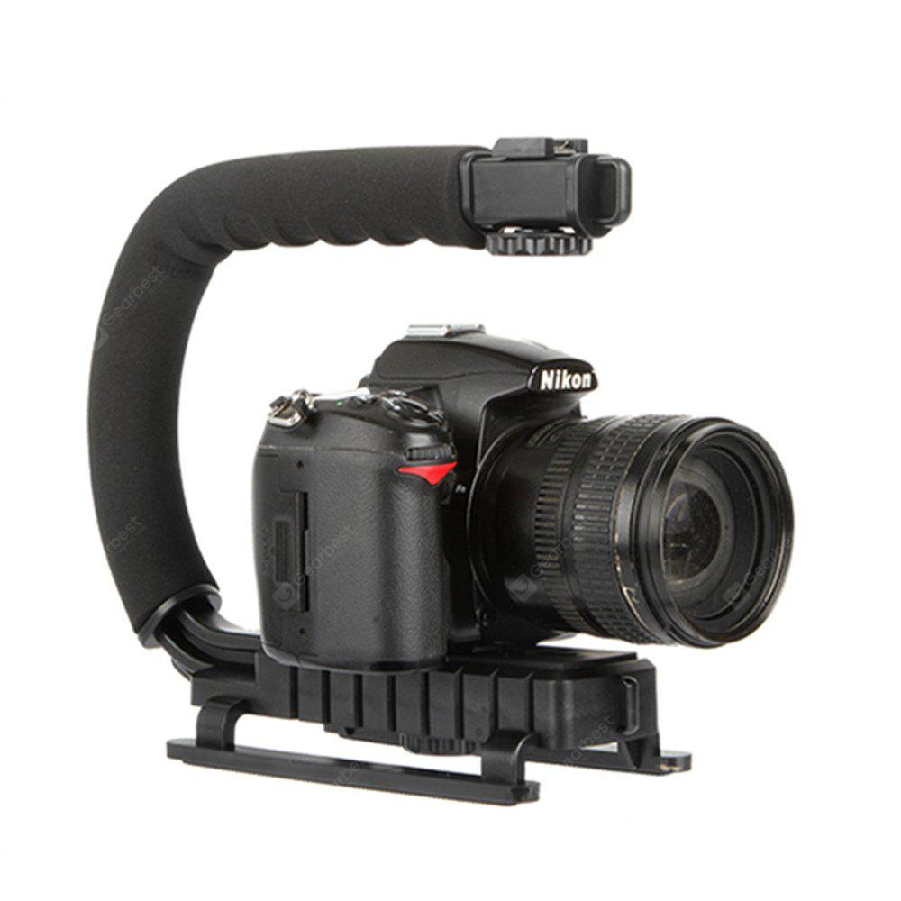 Handle Grip Handheld Stabilizer with Hot-Shoe Mount for Canon Nikon Sony Panasonic Pentax Olympus DSLR Camera Camcorder