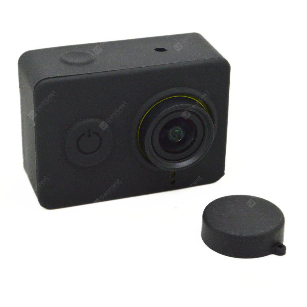 Silicone Rubber Protective Housing Case + Lens Cap Cover for Mi Yi 4K/4K+ Action Camera