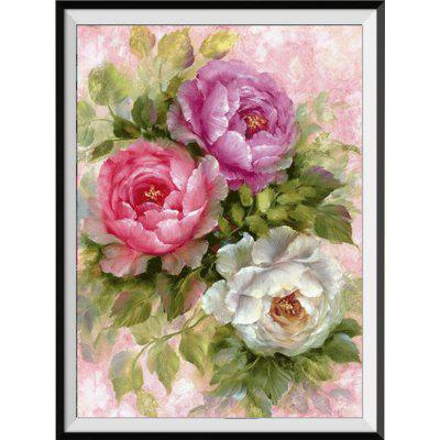 NAIYUE 9495 Peony Print Draw 5D Diamond Painting Diamond Embroidery