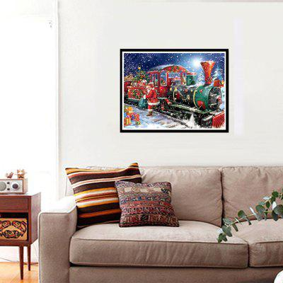 NAIYUE J661 Christmas Train Print Draw 5D Diamond Painting Diamond Embroidery naiyue 7258 christmas night print draw diamond drawing