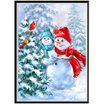 NAIYUE J158 Snowman Print Draw 5D Diamond Painting Diamond Embroidery