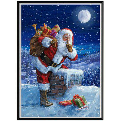 NAIYUE J160 Santa Claus Print Draw 5D Diamond Painting Diamond Embroidery