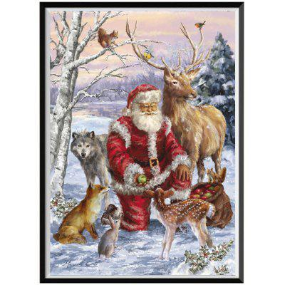 NAIYUE J161 Santa Claus Print Draw 5D Diamond Painting Diamond Embroidery