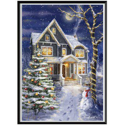 NAIYUE J163 Christmas Print Draw 5D Diamond Painting Diamond Embroidery