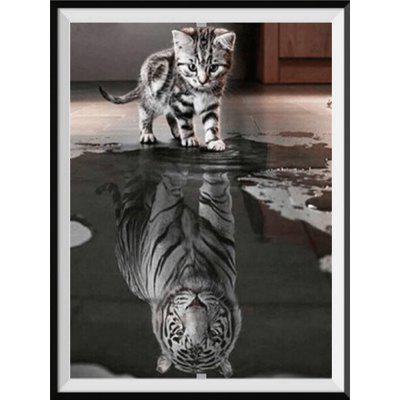 NAIYUE K023-2 Reflection Tiger CatPrint Draw 5D Diamond Painting Diamond Embroidery