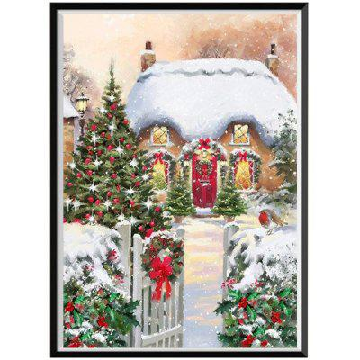NAIYUE J164 Christmas Print Draw 5D Diamond Painting Diamond Embroidery