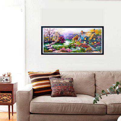 NAIYUE K026 Oil Painting Hut Homes Print Draw 5D Diamond Painting Diamond Embroidery iarts hand painted abstract color composition oil painting red 60 x 60cm