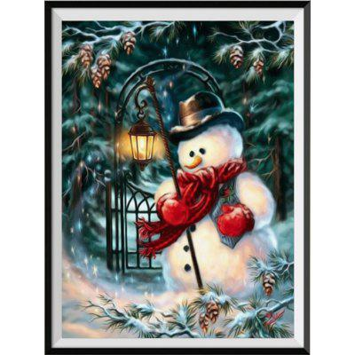 NAIYUE J695 Snowman Print Draw 5D Diamond Painting Diamond Embroidery