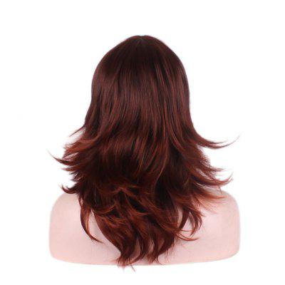 Mujeres Hot Jujube Red Side Parting pelo largo y rizado Beautiful Fashion Sexy peluca