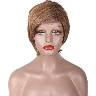 Lady Brown Gold Pretty Personality Fashion Hot Wigs Short