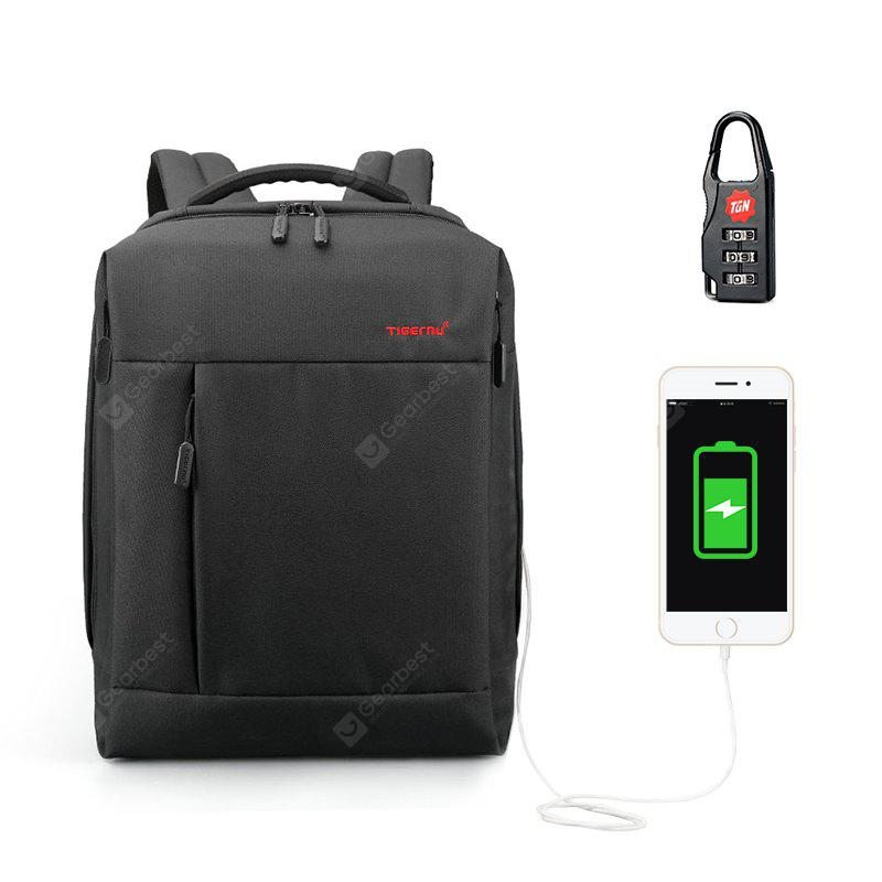 Tigernu Brand USB Charge Backpack Anti-theft Laptop Backpack 14-15.6 inch Laptop Mens Business Backpack School Backpack