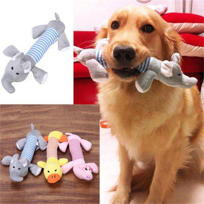 Pet Puppy Chew Squeaker Squeaky Plush Sound Pig Duck For Dog Sound Toys