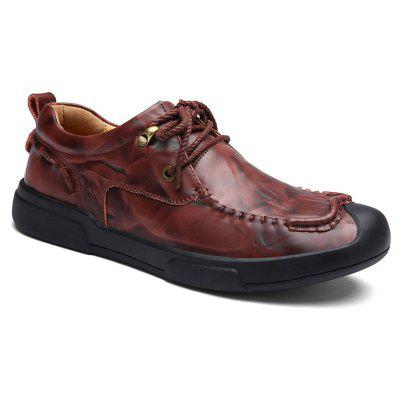 Autumn and Winter Cattle Hide Two Layers of Leather Rubber Bottom Men'S Casual Leather Shoes
