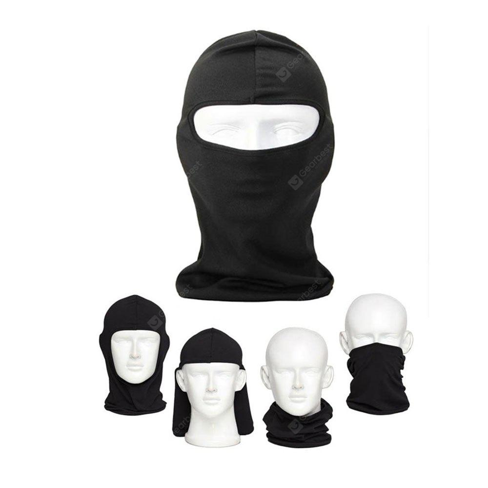 Outdoor Ski Motorcycle Cycling Balaclava Full Face Mask Neck Ultra Thin Windproof Cotton Full Face Neck Guard