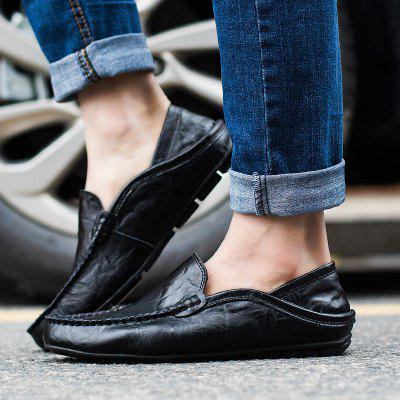 New Solid Color Leather Casual MenS ShoesFlats &amp; Loafers<br>New Solid Color Leather Casual MenS Shoes<br><br>Available Size: 38-44<br>Closure Type: Slip-On<br>Embellishment: Ruched<br>Gender: For Men<br>Outsole Material: Rubber<br>Package Contents: 1xshoes(pair)<br>Pattern Type: Solid<br>Season: Summer, Spring/Fall<br>Toe Shape: Round Toe<br>Toe Style: Closed Toe<br>Upper Material: Genuine Leather<br>Weight: 1.5840kg