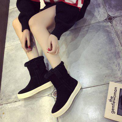 Flat Bottom Warm Short Tube Female BootsWomens Boots<br>Flat Bottom Warm Short Tube Female Boots<br><br>Boot Height: Ankle<br>Boot Type: Snow Boots<br>Closure Type: Slip-On<br>Gender: For Women<br>Heel Height Range: Flat(0-0.5)<br>Heel Type: Flat Heel<br>Package Contents: 1 x shoes (pair)<br>Pattern Type: Others<br>Season: Winter<br>Toe Shape: Round Toe<br>Upper Material: PU<br>Weight: 1.0800kg