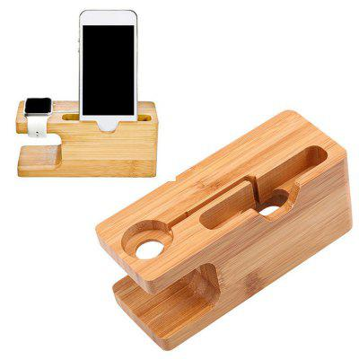 Wooden Charging Dock Station Holder Stand Desktop Bracket for Apple Watch IPhoneStands &amp; Holders<br>Wooden Charging Dock Station Holder Stand Desktop Bracket for Apple Watch IPhone<br><br>Features: ALL-in-1, Charging Base Dock<br>Mainly Compatible with: HTC One M9, LG, Samsung S6, iPhone 5/5S, iPhone 6, iPhone 6 Plus, iPhone 6S, iPhone 4/4S, iPhone 5C, iPod series, Moto, iPhone SE, iPhone 7, iPhone 7 Plus, Samsung Note 5, Galaxy Note 4, MP4, MP3, GPS, SAMSUNG, Nokia, Blackberry, Sony, Xperia Z3, Zenfone, Lumia 830, Lumia 730, Mate 7, D7, Moto X+1, GALAXY Mega2, G2<br>Material: Wood<br>Package Contents: 1 x Bamboo Charging Stand Support<br>Package size (L x W x H): 14.50 x 6.50 x 6.00 cm / 5.71 x 2.56 x 2.36 inches<br>Package weight: 0.1900 kg<br>Type: Dock, Desktop, Mobile Holder