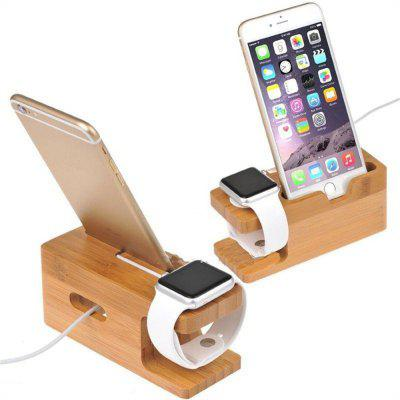 Wooden Charging Dock Station Holder Stand Desktop Bracket for Apple Watch IPhone