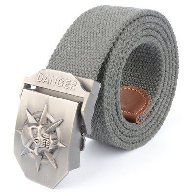 Quick Dry Skull Thick Canvas Camouflage Tactical Military Belt Durable Breathable Weaving Belt Outdoor Sport