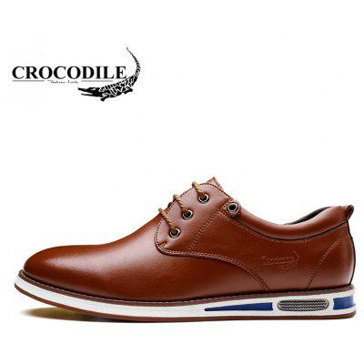 CROCODILE The New 2018 Recreational Shoe Male WFX00372017Men's Oxford<br>CROCODILE The New 2018 Recreational Shoe Male WFX00372017<br><br>Available Size: 38-44<br>Closure Type: Lace-Up<br>Embellishment: Metal<br>Flat Type: Slingbacks<br>Gender: For Men<br>Insole Material: PU<br>Lining Material: Genuine Leather<br>Occasion: Casual<br>Outsole Material: Rubber<br>Package Contents: 1xshoes(pair)<br>Pattern Type: Patchwork<br>Season: Summer, Spring/Fall, Winter<br>Shoe Width: Medium(B/M)<br>Toe Shape: Round Toe<br>Toe Style: Closed Toe<br>Upper Material: Microfiber<br>Weight: 1.9800kg