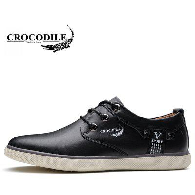 CROCODILE The New 2018 Recreational Shoe Male WFX00372022Men's Sneakers<br>CROCODILE The New 2018 Recreational Shoe Male WFX00372022<br><br>Available Size: 38-44<br>Closure Type: Lace-Up<br>Embellishment: None<br>Flat Type: Slingbacks<br>Gender: For Men<br>Insole Material: PU<br>Lining Material: Genuine Leather<br>Occasion: Casual<br>Outsole Material: Rubber<br>Package Contents: 1xshoes(pair)<br>Pattern Type: Print<br>Season: Summer, Spring/Fall, Winter<br>Shoe Width: Medium(B/M)<br>Toe Shape: Round Toe<br>Toe Style: Closed Toe<br>Upper Material: Cow Split<br>Weight: 1.9800kg