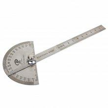 Stainless Steel Round Head 180 Degree Protractor Angle Finder Rotary Measuring Ruler Machinist Tool Craftsman Digital