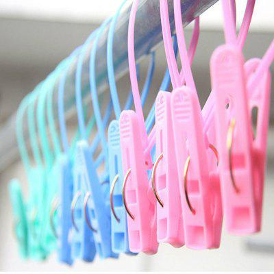 12 Pcs Clip Hanging Clips Home Plastic Clamps Windproof New Clothes Pegs Socks Underwear Drying Rack Holder Homeware