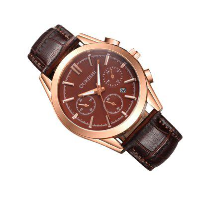 Fashion Calendar Men Leather WatchMens Watches<br>Fashion Calendar Men Leather Watch<br><br>Band material: PU<br>Band size: 255mm<br>Case material: Stainless Steel<br>Clasp type: Pin buckle<br>Dial size: 40mm<br>Display type: Analog<br>Movement type: Digital watch<br>Package Contents: 1 x Watch<br>Package size (L x W x H): 18.00 x 8.00 x 5.00 cm / 7.09 x 3.15 x 1.97 inches<br>Package weight: 0.0450 kg<br>Product size (L x W x H): 25.50 x 4.00 x 1.00 cm / 10.04 x 1.57 x 0.39 inches<br>Product weight: 0.0400 kg<br>Shape of the dial: Round<br>Special features: Day<br>Watch style: Business, Fashion, Casual<br>Watches categories: Men<br>Water resistance: Life water resistant