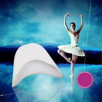 1 Pair of Silicone Toe Pedicure Soft Ballet Foot Pad Dance Insole Straight Curved Toe Cap Foot Care Protection
