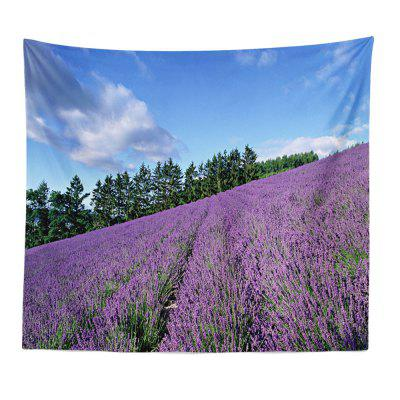 ROUNCO Handmade High-Definition Digital Printing Lavender Landscape Tapestry Beach Towel Multi-Size