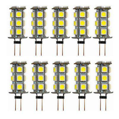 Sencart 10pcs G4 LED 2.5W 300LM 18-5050 SMD LED Bulb Light White of Warm Super Bright DC12V